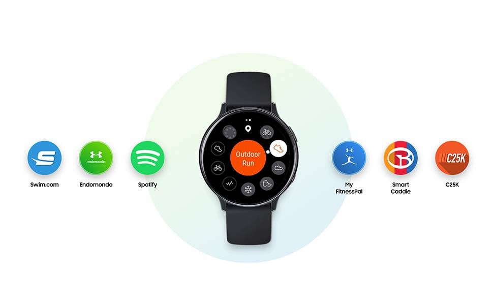 Samsung Galaxy Watch Active 2, 44 mm Aluminium, Aqua Black - SM-R820NZKAKSA