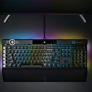 Corsair K100 RGB Teclado USB QWERTZ Holandés Negro