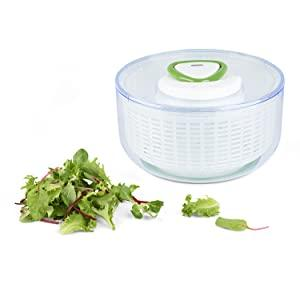 Zyliss Easy Spin 2 Salad Spinner grand-blanc-Poignée ergonomique-bouton stop