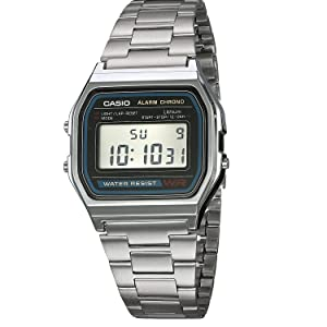 Casio Collection Retro Vintage Reloj Acero 1r Digital A158wa b6fyYIv7g