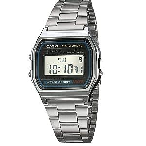 42f57babf977 Reloj CASIO A158WA-1R Vintage Collection Digital Retro-Acero  Amazon ...