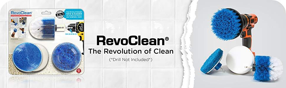 revoclean, revo clean, drill brush, drillbrush, drill attachments, grout, tile, bathroom, clean