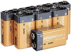 Amazon Basics 9V Alkaline Batteries in multiple value pack sizes