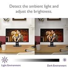BenQ ゲーミングモニター ディスプレイ GL2460BH 周辺光による目の疲労を軽減