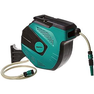 AmazonBasics - Enrollador automático de manguera para pared, 15 m: Amazon.es: Jardín