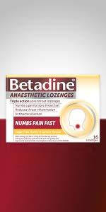 Anaesthetic: Betadine Anaesthetic Lozenges;  Honey & Lemon lozenges; Berry lozenges; 16-pack,