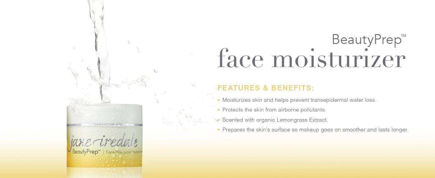 jane iredale beautyprep face moisturizer vegan lemongrass natural ultra hydrating skin care makeup