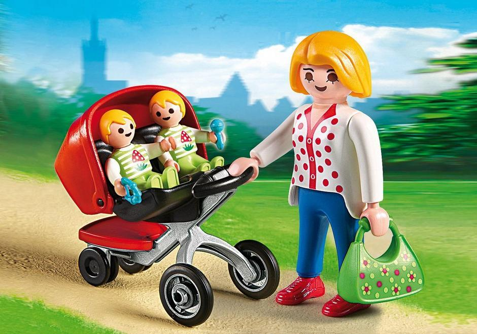 Playmobil Guarderia Mama Con Carrito De Gemelos Playset 5573
