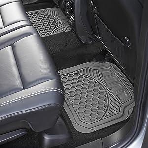Terrific Amazonbasics 4 Piece Heavy Duty Rubber Car Floor Mat Grey Evergreenethics Interior Chair Design Evergreenethicsorg