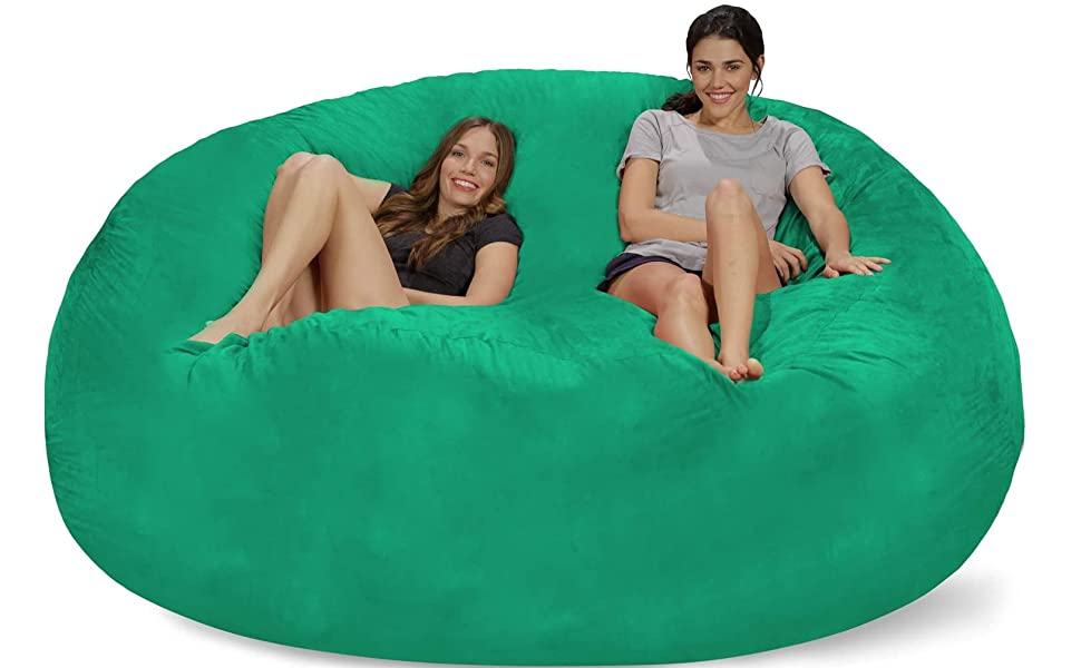 Amazon Com Chill Sack Bean Bag Chair Giant 8 Memory Foam Furniture Bean Bag Big Sofa With Soft Micro Fiber Cover Aqua Marine Furniture Decor