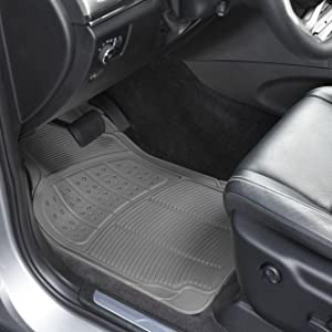 Connected Essentials Tailored Custom Fit Car Mats for Peut 106 Black with Grey Trim Car Mat Set 1991-2003
