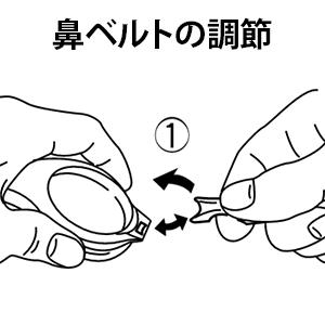 鼻ベルトの調整