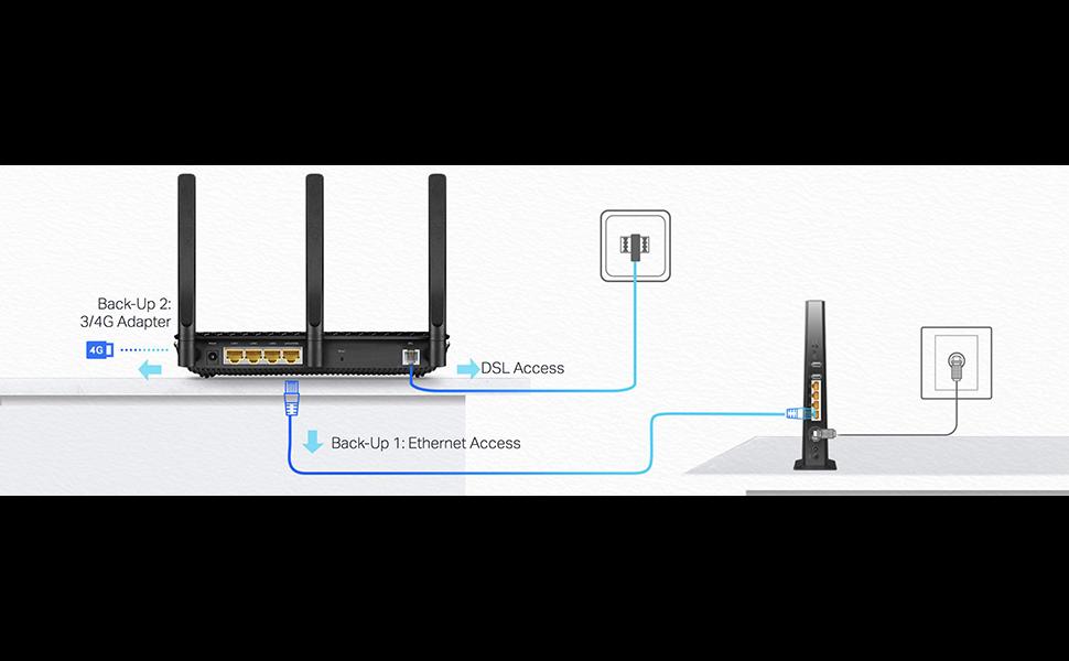 TP-Link AC2100 Archer VR600 Wireless MU-MIMO VDSL/ADSL Modem Router