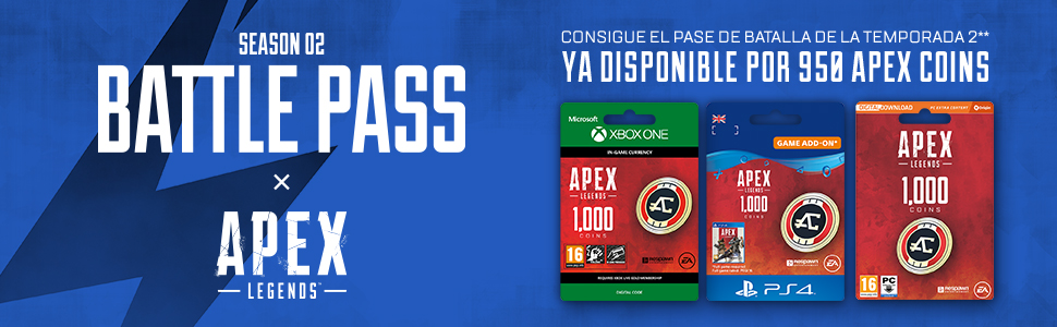 APEX Legends: 2,150 Coins (PSN Wallet Top-Up) | Código de descarga PSN - Cuenta española: Amazon.es: Videojuegos