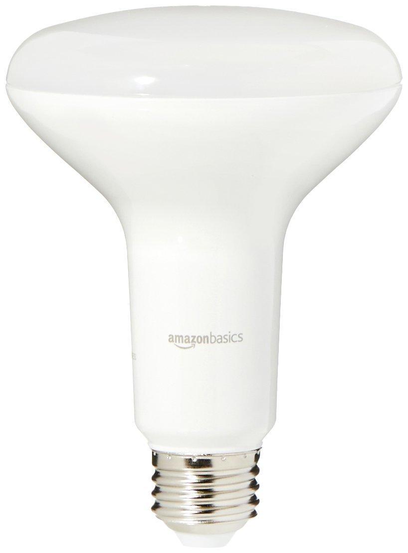 Led Daylight Bulb: AmazonBasics 65 Watt Equivalent, Daylight, Dimmable, BR30