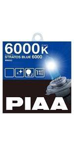PIAA ( ピア ) ハロゲンバルブ 【ストラトスブルー 6000K】 H4 12V60/55W 2個入りHZ501