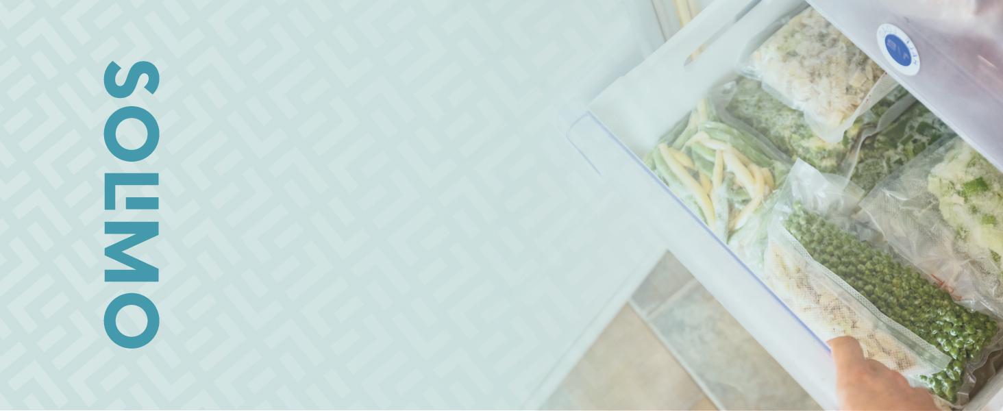 Marca Amazon - Solimo Bolsas de Congelación con Cierre Zip - 3 Litros - 150 Bolsas