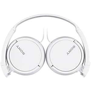 Sony Sound Monitoring Over The Ear Headset, White - MDRZX110AP
