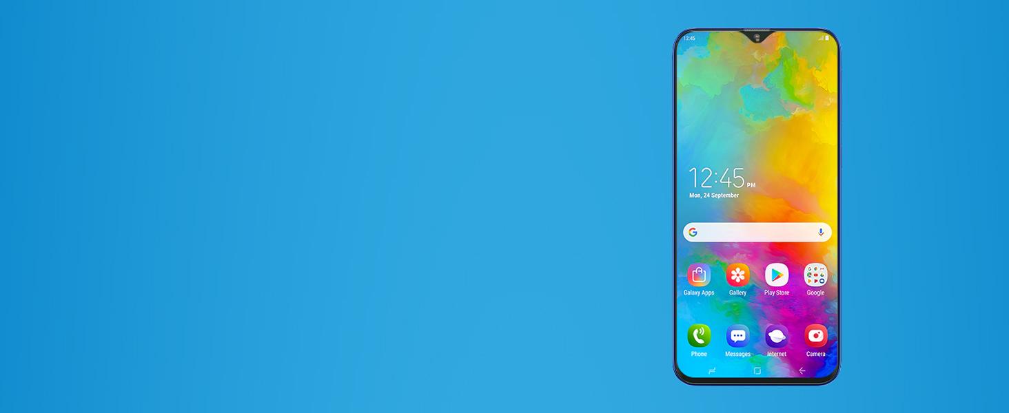 Samsung Galaxy M20 (Charcoal Black, 4+64GB)