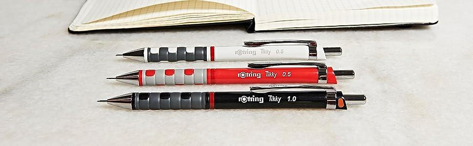 Rotring Tikky portaminas con codificación por color 0,05mm, cuerpo negro: Amazon.es: Oficina y papelería
