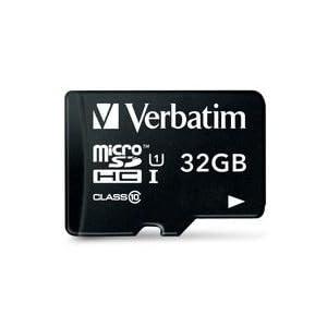 Verbatim 44083 - Tarjeta de Memoria Micro SDHC de 32 GB con Adaptador (Clase 10)