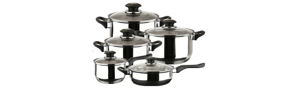 MAGEFESA FAMILY – Batería de Cocina MAGEFESA FAMILY 10 Piezas está Fabricada en Acero Inoxidable. Fácil Limpieza y Apta lavavajillas. Asas de bakelita ...