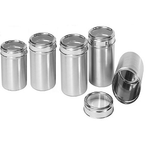 Buy Dynore Stainless Steel Canister Set Set Of 5 Silver Online At