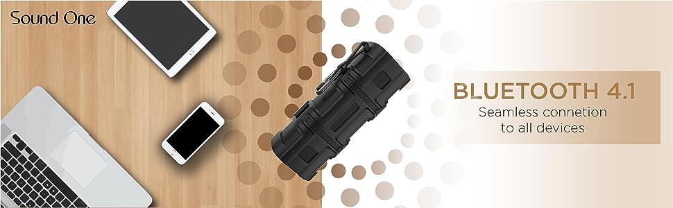 Sound One Beast Bluetooth/Wireless Speaker, 10 Watts, with Strong Bass (Black)