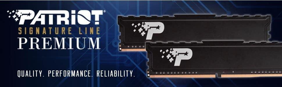 Signature; Premium; 2400mhz; 2666Mhz; DDR4; Heatsink;