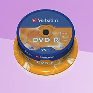 Verbatim Dvd R 4 7gb 16x Burn Speed With Long Life Computers Accessories