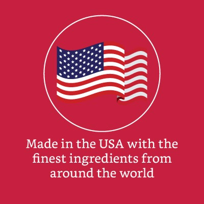 Made in the USA with the finest ingredients from around the world