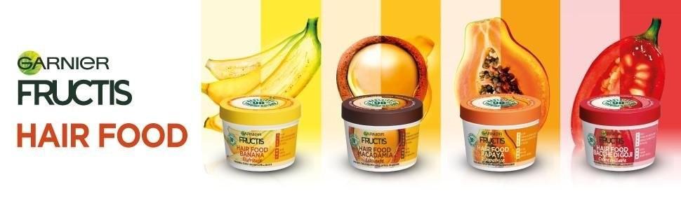 Fructis, Frutta, maschera, balsamo, trattamento, 3in1, trattamento 3in1, Garnier