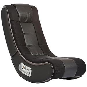Superbe V Rocker 5130301 SE Video Gaming Chair, Wireless, Black With Grey