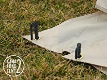 DOPPELGANGER(ドッペルギャンガー) アウトドア カマボコテント2 設営簡単 4~5人用 T5-489 スカートのバタつき防止グロメット