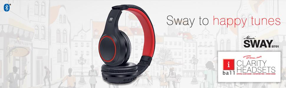 53d8f6ea0f8 Amazon.in: Buy iBall Musi Sway BT01 Wireless Headset with Built in ...