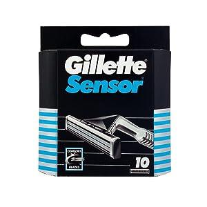 Gillette Sensor Hojas de afeitar para hombre, 10 unidades: Amazon ...