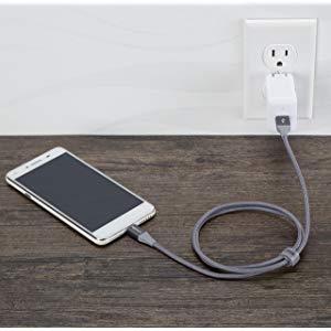 AmazonBasics Double Braided Nylon USB 2.0 A to Micro B Cable
