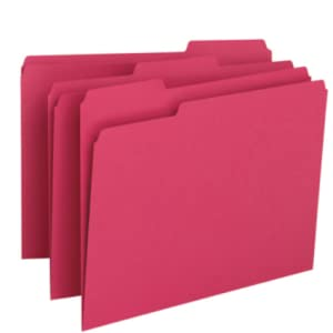 """0.75/"""" Expansion Letter Smead 13143 Teal Colored File Folders 8.50/"""" X 11/"""""""