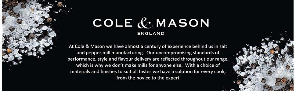 Cole and Mason salt and pepper mills, salt n pepper,  black banner, release the flavour