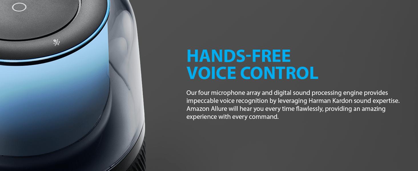 Hand-free voice control with Amazon Alexa