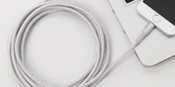AmazonBasics Apple Certified Double Nylon Braided USB A Cable with Lightning Connector