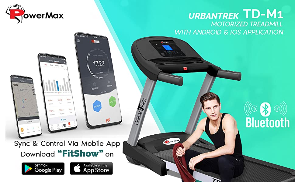 PowerMax UrbanTrek TD-M1 Treadmill, 4 HP