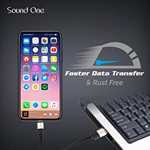 Fast And Data Transfer Sound One Silicon Lightning Cable
