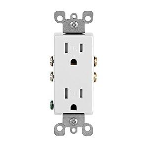 Leviton Connecteur 15 Amp NEMA 5-15 Pole clair Ylw Vert