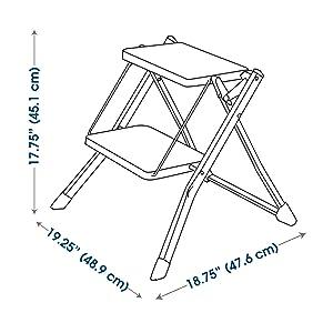 Amazon Com Polder Mini 2 Step Stool 17 Quot High 225 Lb