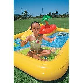 Intex 57454NP - Centro juegos hinchable tobogán 254 x 196 x 79 cm, 507 litros: Amazon.es: Juguetes y juegos