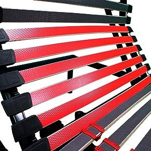 Duérmete Online Ergo Luxe Cama Eléctrica Articulada Reforzada 5 Planos con Suspensiones de Caucho, Haya, Gris, 90 x 190
