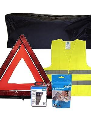 SafeTravel Autofahrer-Set Notfall-Set f/ür Reisen nach Frankreich