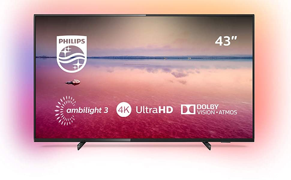 Philips 55PUS6704/12 - Smart TV LED 4K UHD, 55 pulgadas, Resolución de pantalla 3840 x 2160, Relación de aspecto 16:9, Negro brillante