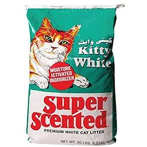 Kitty White Cat Litter Super Scented, 9.07kg